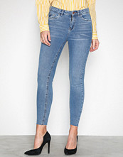 New Look Blue Cut Off Hem Jeans