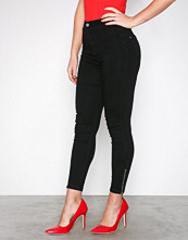 Missguided Black Highwaisted Skinny Ankle Jeans