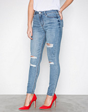 Missguided Blue High Waisted Authentic Jeans
