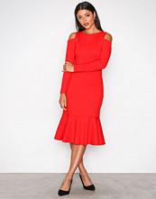 Closet Red Cold-Shoulder Jersey Dress