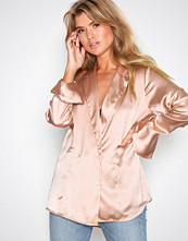 NLY Trend Lys rosa Soft Silky Shirt