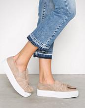 NLY Shoes Beige Twist Platform Sneaker