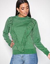 Selected Femme Mørk grønn Sfagnes Ls Knit O-Neck Rt