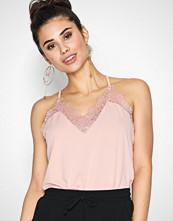 Vero Moda Vmmilla S/L Lace Top Noos Lys rosa