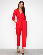 Closet Red Crossover Jumpsuit
