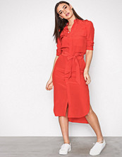 Polo Ralph Lauren Red Long Sleeve Dress