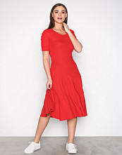 Lauren Ralph Lauren Red Jiartana-Elbow Sleeve-Casual Dress