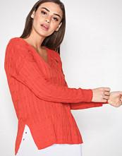 Polo Ralph Lauren Red Side Slit Sweater
