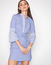 Lauren Ralph Lauren Blue Bozzany-Long Sleeve-Casual Dress