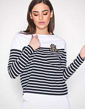 Lauren Ralph Lauren Navy Lien Long Sleeve Knit