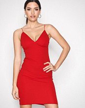 New Look Red Crepe Strappy Bodycon Midi Dress