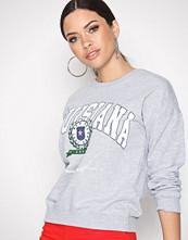 New Look Grey Louisiana Crest Print Sweatshirt