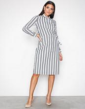Selected Femme Hvit Sfevelyn Ls Shirt Dress