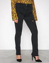Missguided Black Mid Rise Skinny Zipper Jeans