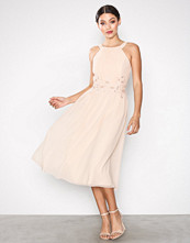 Little Mistress Light Beige Embroidery Dress