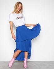 NLY Trend Blå Summer Frill Skirt