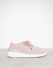 NLY Shoes Dusty Pink Knitted Sneaker