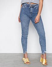 New Look Blue Fray Hem Disco Vanessa Jeans