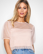 NLY Trend Rosa Smock Mesh Top