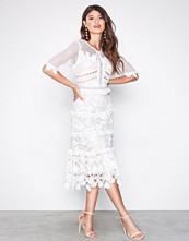 True Decadence Hvit Short Sleeve Lace Dress