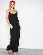 Vero Moda Svart Vmsuper Easy 3 Sl Maxi Dress Noos