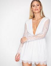 Motel White Penley Eyelash Lace Dress