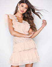 True Decadence Peach Lace Frill Dress