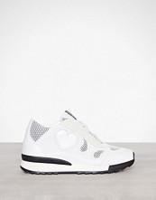 Love Moschino Hvit Heart Sneaker