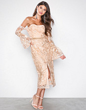 True Decadence Peach Drop Sleeve Dress