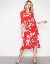 Y.a.s Mørk Rød Yasflying Wrap Dress