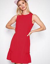 Michael Kors True Red Sleeveless Ruffle Dress