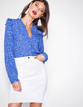 NLY Trend Hvit Midi Denim Skirt