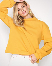 NLY Trend Mustard Half Polo Sweat