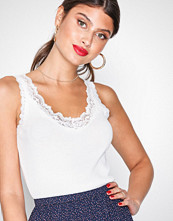 NLY Trend Hvit Lace Rib Top