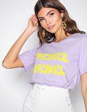 Only Lys lilla onlRIA S/S Print T-Shirt Jrs