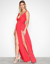 NLY One Rød Double Slit Maxi Dress