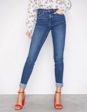 New Look Blue Turn Up Hem Skinny Jenna Jeans