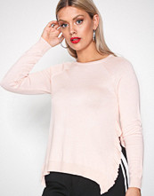 Only Lys rosa onlEA L/S Ruffle Pullover Knt