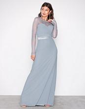 TFNC Dusty Blue Cimmaron Maxi Dress