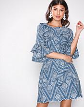 River Island Light Blue Lace Waisted Dress