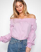 NLY Trend Lys rosa Off Shoulder Smock Blouse