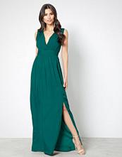 Dry Lake Dark Green Callie Long Dress