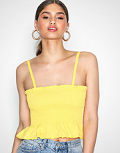 NLY Trend Gul Smock Bralet Top