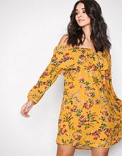 Glamorous Mustard Off Shoulder LS Dress