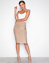 NLY One Champagne Double Layer Slinky Skirt
