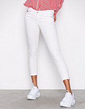 Tommy Jeans White Mid Rise Skinny Nora 7/8