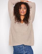 Filippa K Beige Linen V-Neck Sweater