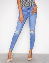 Gina Tricot Electric Blue Kristen Mid Waist jeans