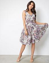 Closet Beige Floral Midi Dress