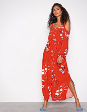 Y.a.s Orange Yasbluebell Ls Ancle Dress